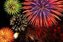 feux d'artifices, foires, festivals